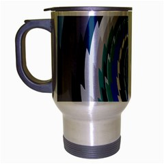 Psycho Hole Chevron Wave Seamless Travel Mug (silver Gray) by Mariart