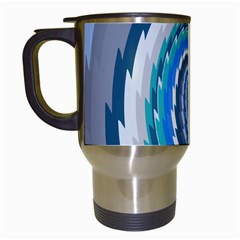 Psycho Hole Chevron Wave Seamless Travel Mugs (white) by Mariart