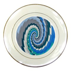 Psycho Hole Chevron Wave Seamless Porcelain Plates by Mariart