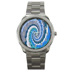 Psycho Hole Chevron Wave Seamless Sport Metal Watch by Mariart