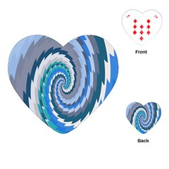 Psycho Hole Chevron Wave Seamless Playing Cards (heart)  by Mariart