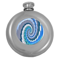Psycho Hole Chevron Wave Seamless Round Hip Flask (5 Oz) by Mariart