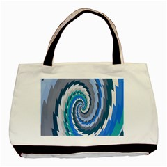 Psycho Hole Chevron Wave Seamless Basic Tote Bag (two Sides) by Mariart