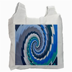 Psycho Hole Chevron Wave Seamless Recycle Bag (two Side)  by Mariart