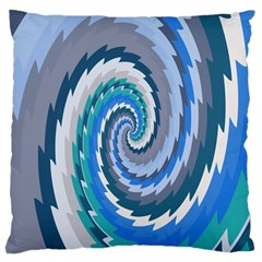 Psycho Hole Chevron Wave Seamless Large Cushion Case (two Sides) by Mariart