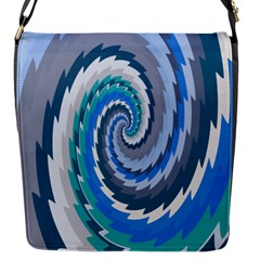 Psycho Hole Chevron Wave Seamless Flap Messenger Bag (s) by Mariart