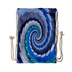 Psycho Hole Chevron Wave Seamless Drawstring Bag (small)