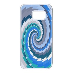 Psycho Hole Chevron Wave Seamless Samsung Galaxy S7 White Seamless Case by Mariart