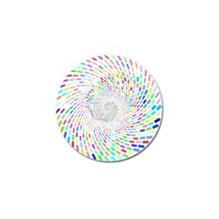 Prismatic Abstract Rainbow Golf Ball Marker