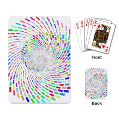 Prismatic Abstract Rainbow Playing Card
