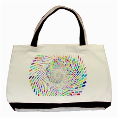 Prismatic Abstract Rainbow Basic Tote Bag (two Sides) by Mariart