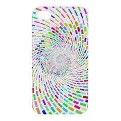 Prismatic Abstract Rainbow Apple Iphone 4/4s Premium Hardshell Case by Mariart