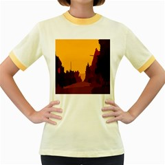 Road Trees Stop Light Richmond Ace Women s Fitted Ringer T Shirts by Mariart