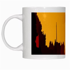 Road Trees Stop Light Richmond Ace White Mugs