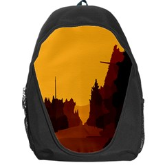 Road Trees Stop Light Richmond Ace Backpack Bag
