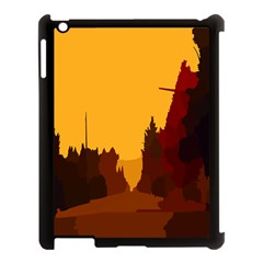 Road Trees Stop Light Richmond Ace Apple Ipad 3/4 Case (black) by Mariart