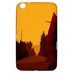 Road Trees Stop Light Richmond Ace Samsung Galaxy Tab 3 (8 ) T3100 Hardshell Case  by Mariart