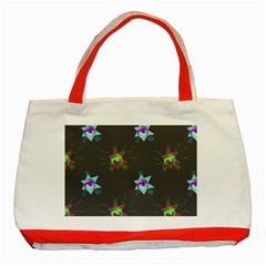 Random Doodle Pattern Star Classic Tote Bag (red)