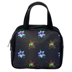 Random Doodle Pattern Star Classic Handbags (one Side) by Mariart