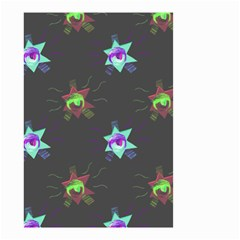 Random Doodle Pattern Star Small Garden Flag (two Sides) by Mariart
