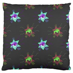 Random Doodle Pattern Star Standard Flano Cushion Case (one Side)