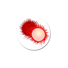 Rambutan Fruit Red Sweet Golf Ball Marker by Mariart