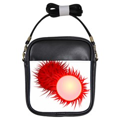 Rambutan Fruit Red Sweet Girls Sling Bags by Mariart