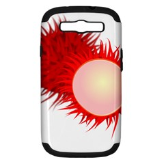 Rambutan Fruit Red Sweet Samsung Galaxy S Iii Hardshell Case (pc+silicone) by Mariart