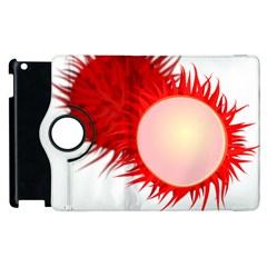 Rambutan Fruit Red Sweet Apple Ipad 3/4 Flip 360 Case by Mariart