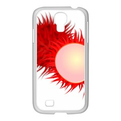 Rambutan Fruit Red Sweet Samsung Galaxy S4 I9500/ I9505 Case (white) by Mariart
