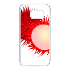 Rambutan Fruit Red Sweet Samsung Galaxy S7 White Seamless Case by Mariart