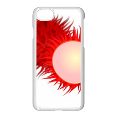 Rambutan Fruit Red Sweet Apple Iphone 8 Seamless Case (white) by Mariart