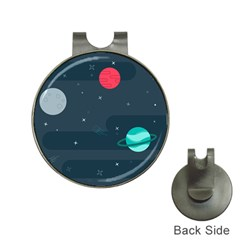 Space Pelanet Galaxy Comet Star Sky Blue Hat Clips With Golf Markers