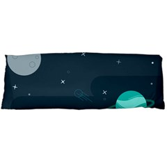 Space Pelanet Galaxy Comet Star Sky Blue Body Pillow Case Dakimakura (two Sides)