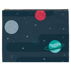 Space Pelanet Galaxy Comet Star Sky Blue Cosmetic Bag (xxxl)  by Mariart