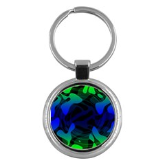 Spectrum Sputnik Space Blue Green Key Chains (round)  by Mariart