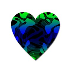 Spectrum Sputnik Space Blue Green Heart Magnet by Mariart