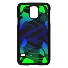 Spectrum Sputnik Space Blue Green Samsung Galaxy S5 Case (black)