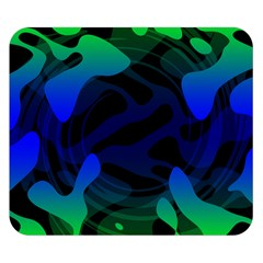 Spectrum Sputnik Space Blue Green Double Sided Flano Blanket (small)