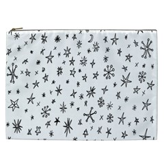 Star Doodle Cosmetic Bag (xxl)  by Mariart