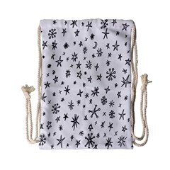 Star Doodle Drawstring Bag (small) by Mariart
