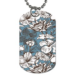 Star Flower Grey Blue Beauty Sexy Dog Tag (one Side) by Mariart