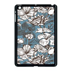 Star Flower Grey Blue Beauty Sexy Apple Ipad Mini Case (black) by Mariart