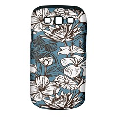 Star Flower Grey Blue Beauty Sexy Samsung Galaxy S Iii Classic Hardshell Case (pc+silicone) by Mariart