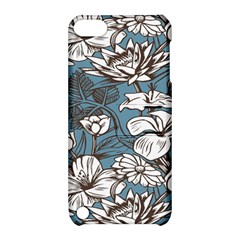 Star Flower Grey Blue Beauty Sexy Apple Ipod Touch 5 Hardshell Case With Stand