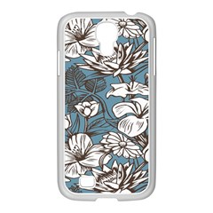 Star Flower Grey Blue Beauty Sexy Samsung Galaxy S4 I9500/ I9505 Case (white)