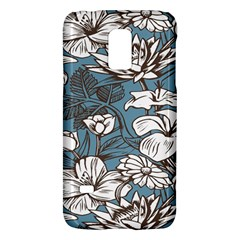 Star Flower Grey Blue Beauty Sexy Galaxy S5 Mini by Mariart