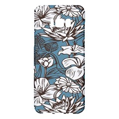 Star Flower Grey Blue Beauty Sexy Samsung Galaxy S8 Plus Hardshell Case  by Mariart