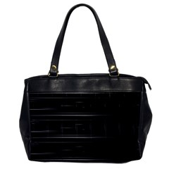 Stripes Black White Minimalist Line Office Handbags by Mariart
