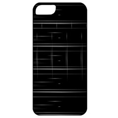 Stripes Black White Minimalist Line Apple Iphone 5 Classic Hardshell Case by Mariart